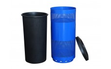 """Perforated 20"""" Gallon Mesh Garbage Trash Container"""