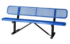 Expanded, Bench with backrest, 72inch